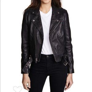 NWOT BLK Denim vinyl genuine leather jacket